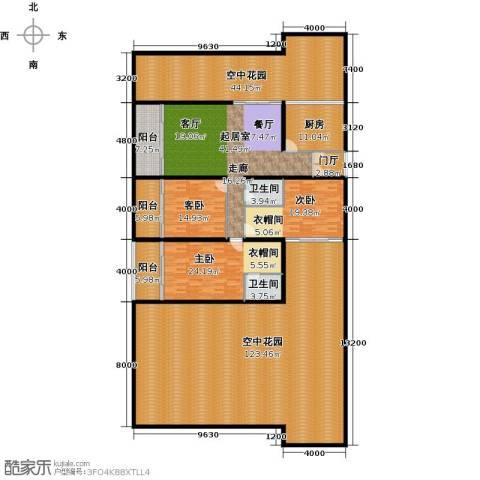 中和龙沐湾・海润源3室0厅2卫1厨308.41㎡户型图