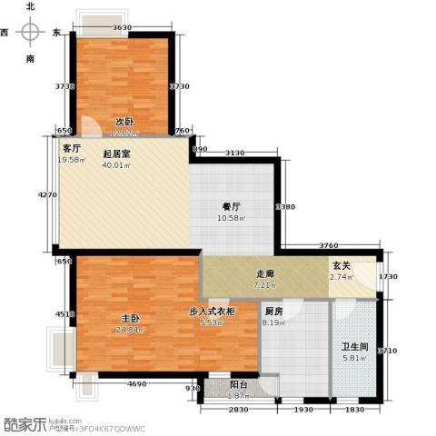 荟锦2室0厅1卫1厨92.74㎡户型图