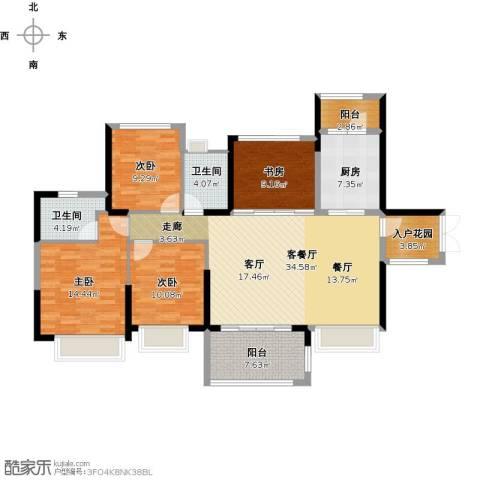 尚海湾豪庭4室1厅2卫1厨153.00㎡户型图
