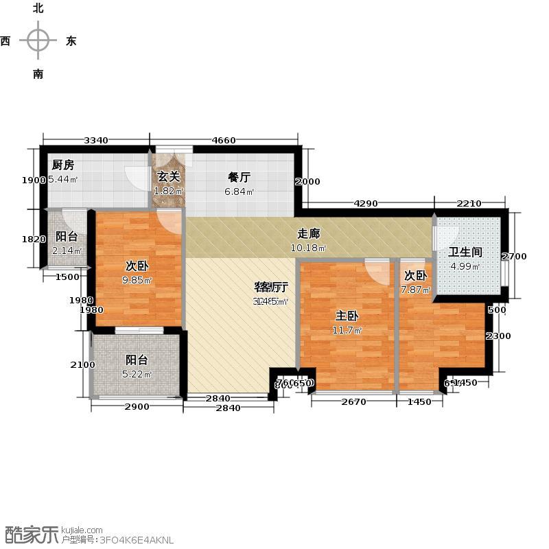中信西关海104.00㎡8幢0户型3室1厅1卫1厨