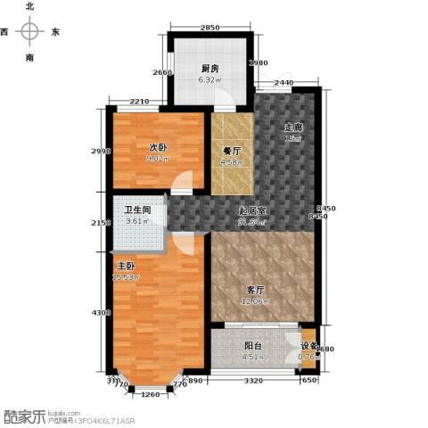 西城国际2室0厅1卫1厨83.00㎡户型图
