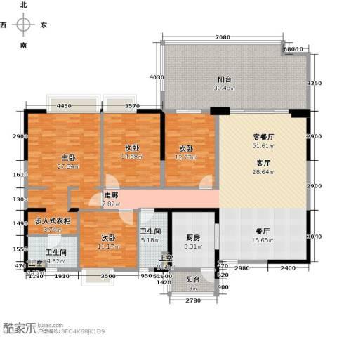 碧桂园凤凰城4室1厅2卫1厨195.00㎡户型图