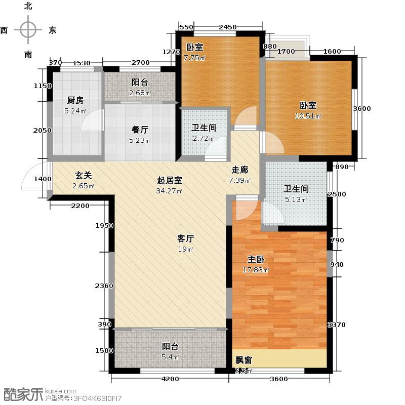 金地檀溪24层-1户型1室2卫1厨