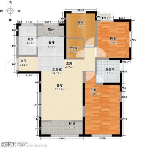 金地檀溪1室0厅2卫1厨133.00㎡户型图