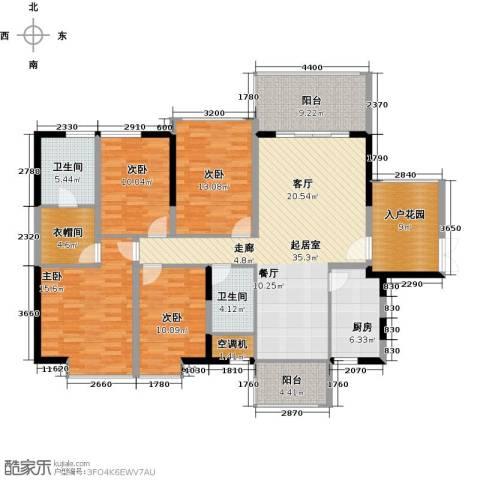 深房传麒山4室0厅2卫1厨145.00㎡户型图