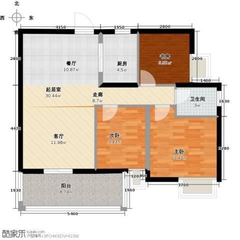 尚品雅居3室0厅1卫1厨101.00㎡户型图