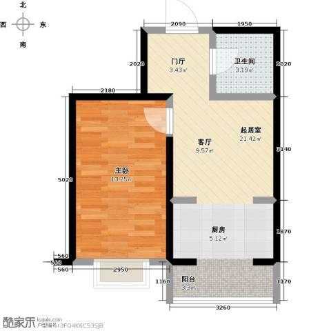 北华家园1室0厅1卫0厨58.00㎡户型图