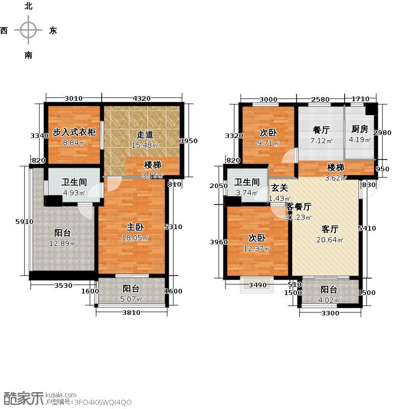 碧林湾三期顶层复式户型3室1厅2卫1厨