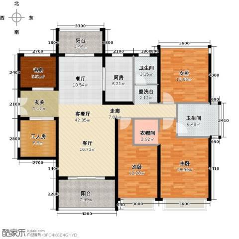 光明大第4室1厅2卫1厨140.00㎡户型图