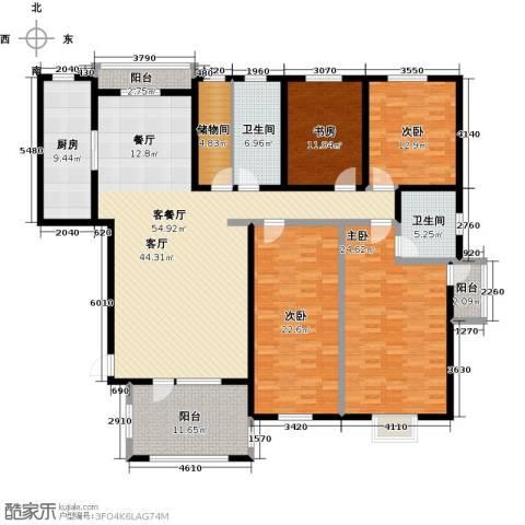 金桥天海湾4室1厅2卫1厨192.00㎡户型图