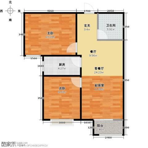 香城丽景・悦动社区2室1厅1卫1厨82.00㎡户型图