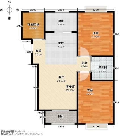 香城丽景・悦动社区2室1厅1卫1厨89.00㎡户型图
