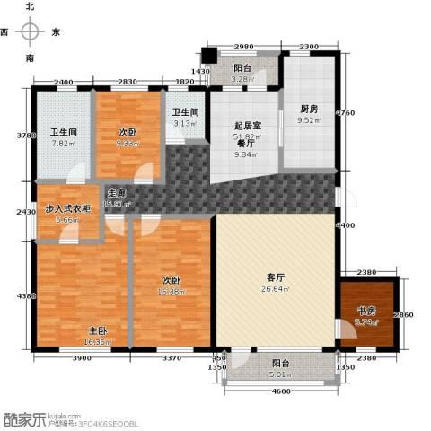 中体奥林匹克花园・蝶语湖4室0厅2卫1厨163.00㎡户型图