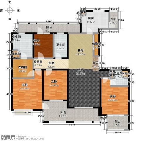 绿地梧桐院4室0厅3卫1厨180.00㎡户型图