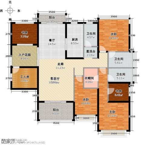 光明大第5室1厅3卫1厨160.00㎡户型图