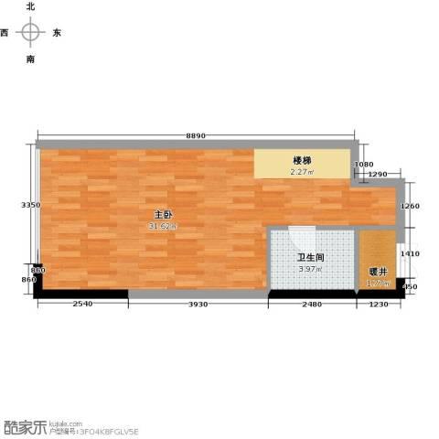 青年工社1室0厅1卫0厨41.00㎡户型图