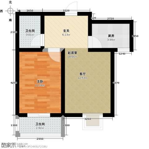 紫苑二期1室0厅2卫1厨60.00㎡户型图
