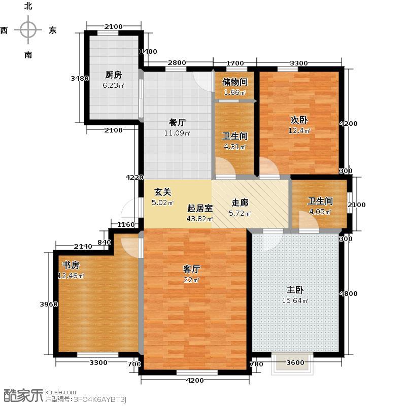 观澜湖别墅134.00㎡倚澜观邸二期6#、10#、11#楼高层2户型3室2卫1厨