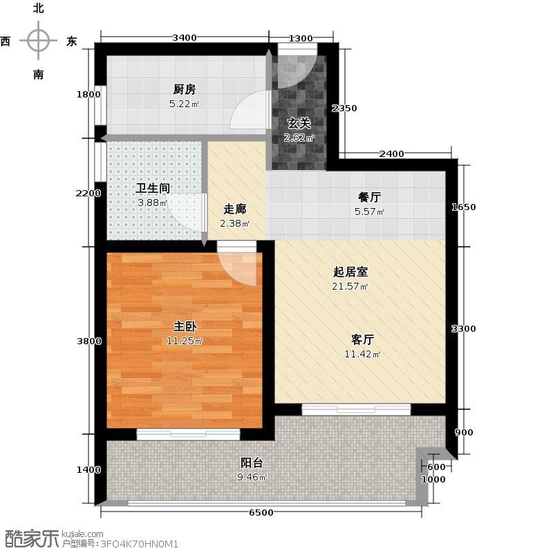 伊泰・天骄H3户型1室1卫1厨