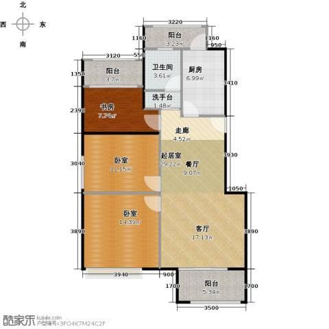 绿地芳满庭1室0厅1卫1厨94.00㎡户型图