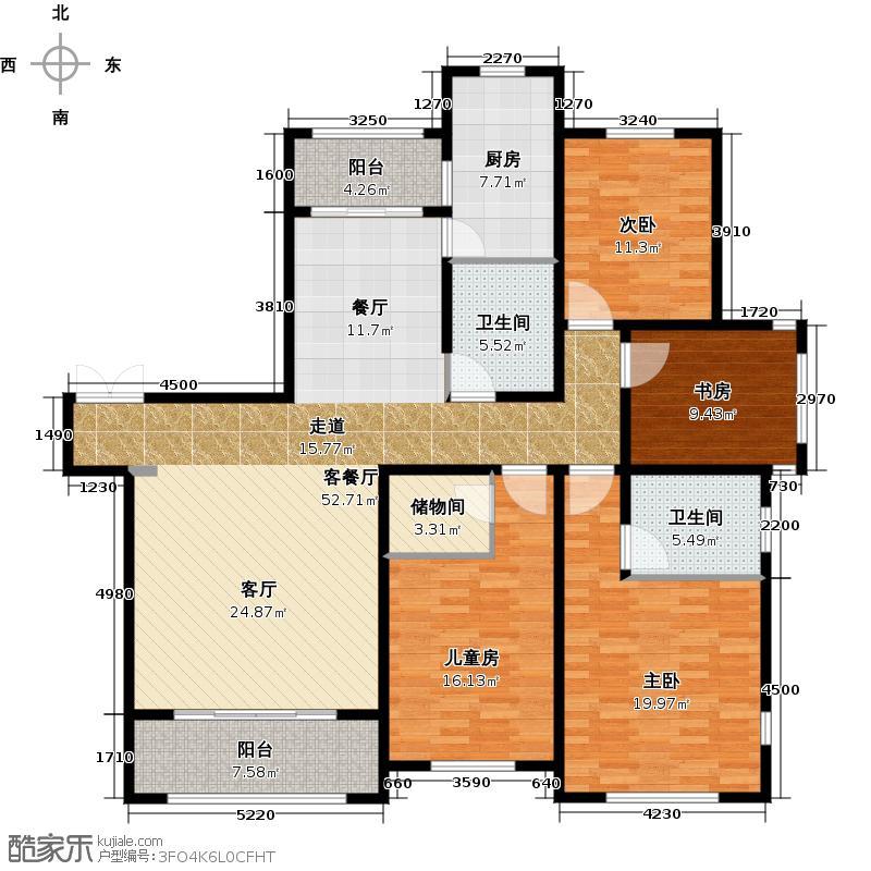 中洲珑悦户型4室1厅2卫1厨