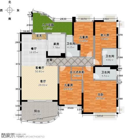 广州碧桂园城市花园4室1厅3卫1厨190.00㎡户型图