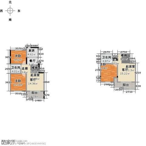 中冶乾城3室0厅2卫1厨105.69㎡户型图
