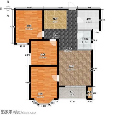 西城国际3室0厅1卫1厨108.00㎡户型图
