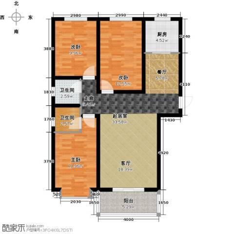 紫晶名门3室0厅2卫1厨116.00㎡户型图