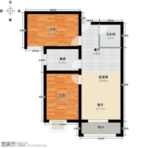 龙强印象2室0厅1卫1厨88.00㎡户型图