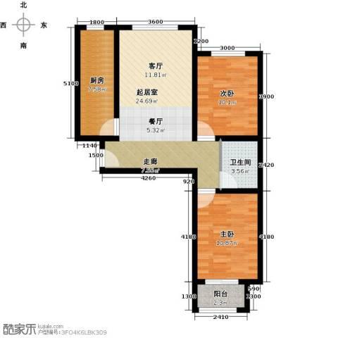 龙强印象2室0厅1卫1厨89.00㎡户型图