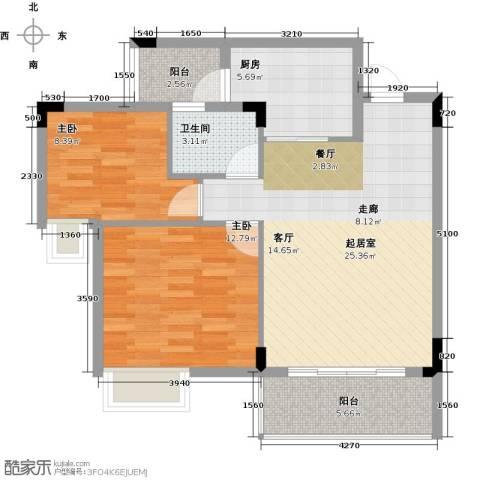 友田碧云轩2室0厅1卫1厨78.00㎡户型图