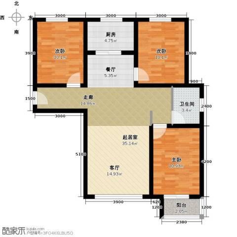 龙强印象3室0厅1卫1厨114.00㎡户型图
