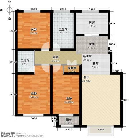 龙强印象3室0厅2卫1厨132.00㎡户型图