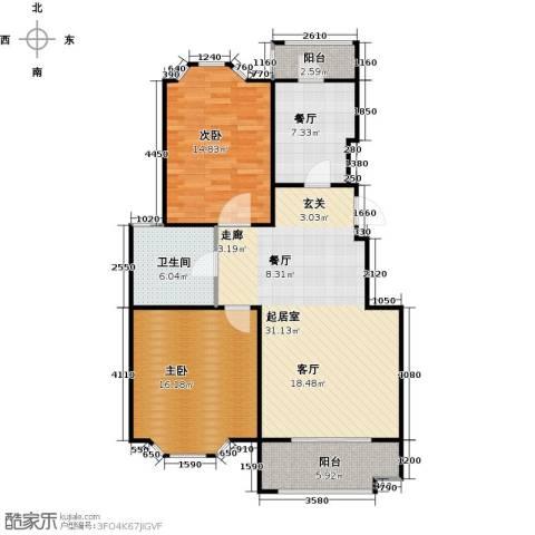 花田洋房2室1厅1卫0厨90.00㎡户型图