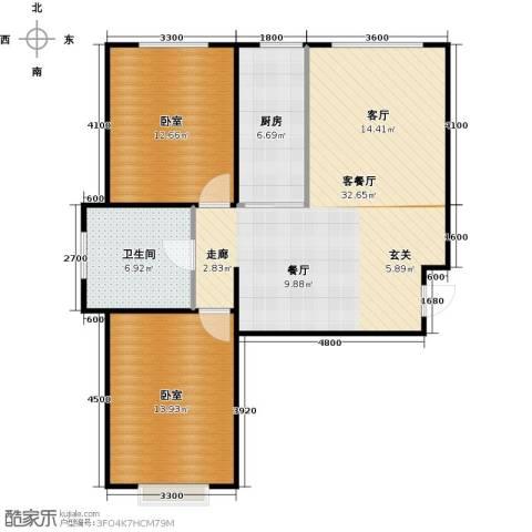 新华名座1厅1卫1厨96.00㎡户型图