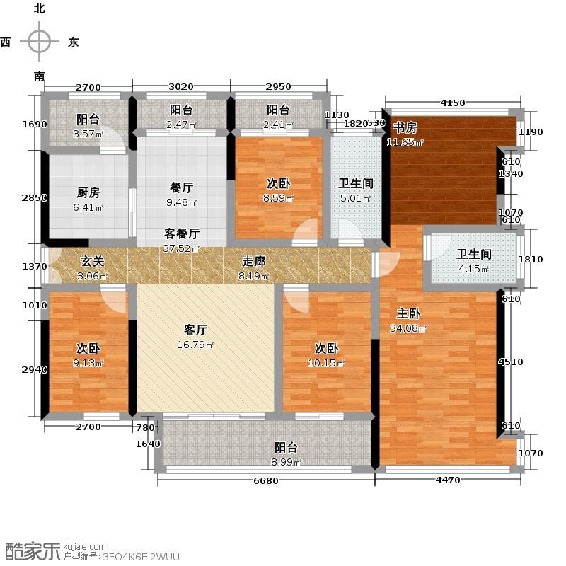 金亨利都荟首府E型铂金户型4室1厅2卫1厨
