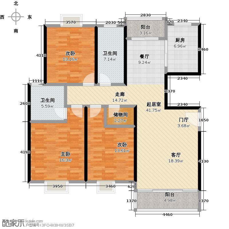 东方听潮豪园28、30、34、36号02户型3室2卫1厨