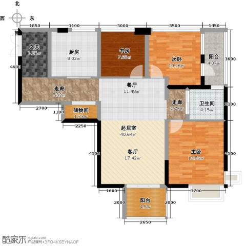 蓝堡公馆3室0厅1卫1厨110.00㎡户型图