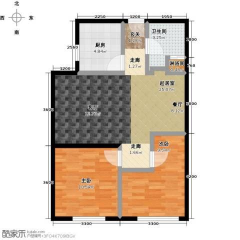 恒瑞・坦城2室0厅1卫1厨88.00㎡户型图