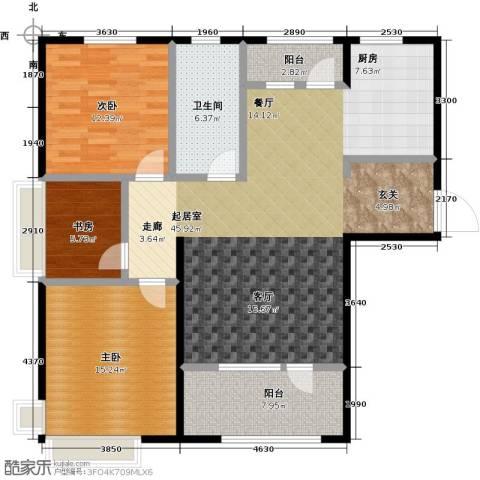 昊宇・山海湾3室0厅1卫0厨113.00㎡户型图