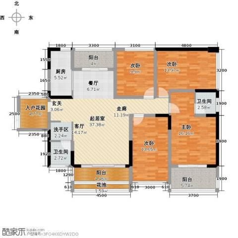 美佳华首誉4室0厅2卫1厨123.00㎡户型图