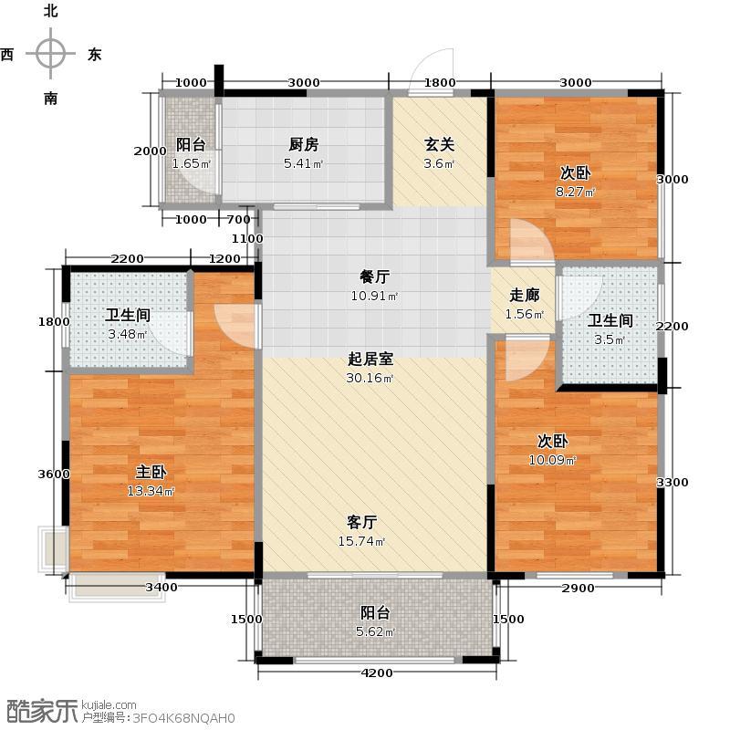 晶宝塞纳国际D1可改造为可变户型3室2卫1厨