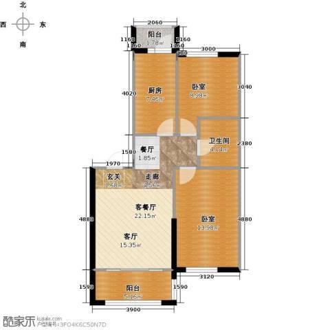 巴黎第五区1厅1卫1厨88.00㎡户型图