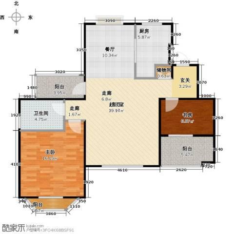花田洋房2室0厅1卫1厨91.00㎡户型图