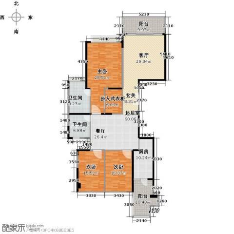 恒大绿洲3室0厅2卫1厨189.00㎡户型图