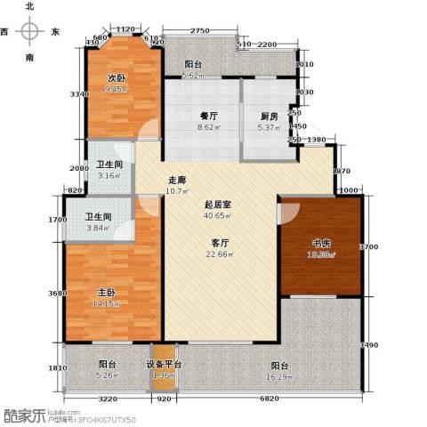 花田洋房3室0厅2卫1厨125.00㎡户型图