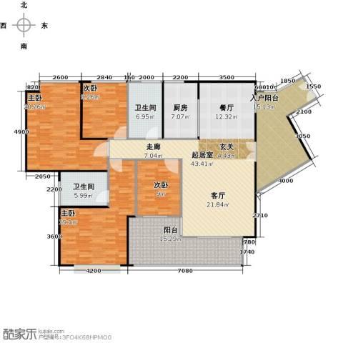 莲湖四季豪园4室0厅2卫1厨203.00㎡户型图