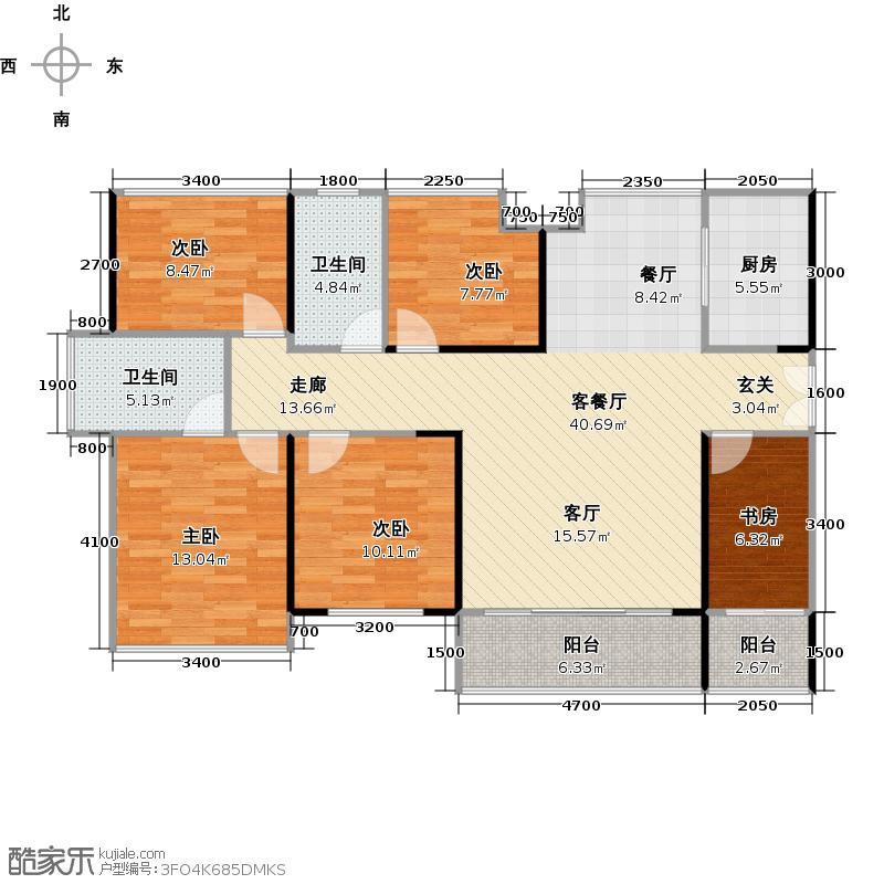 阅山公馆120.00㎡1、2栋A/B户型偶数层户型5室2厅2卫