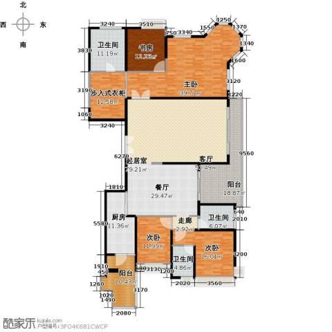 恒大绿洲4室0厅3卫1厨256.00㎡户型图